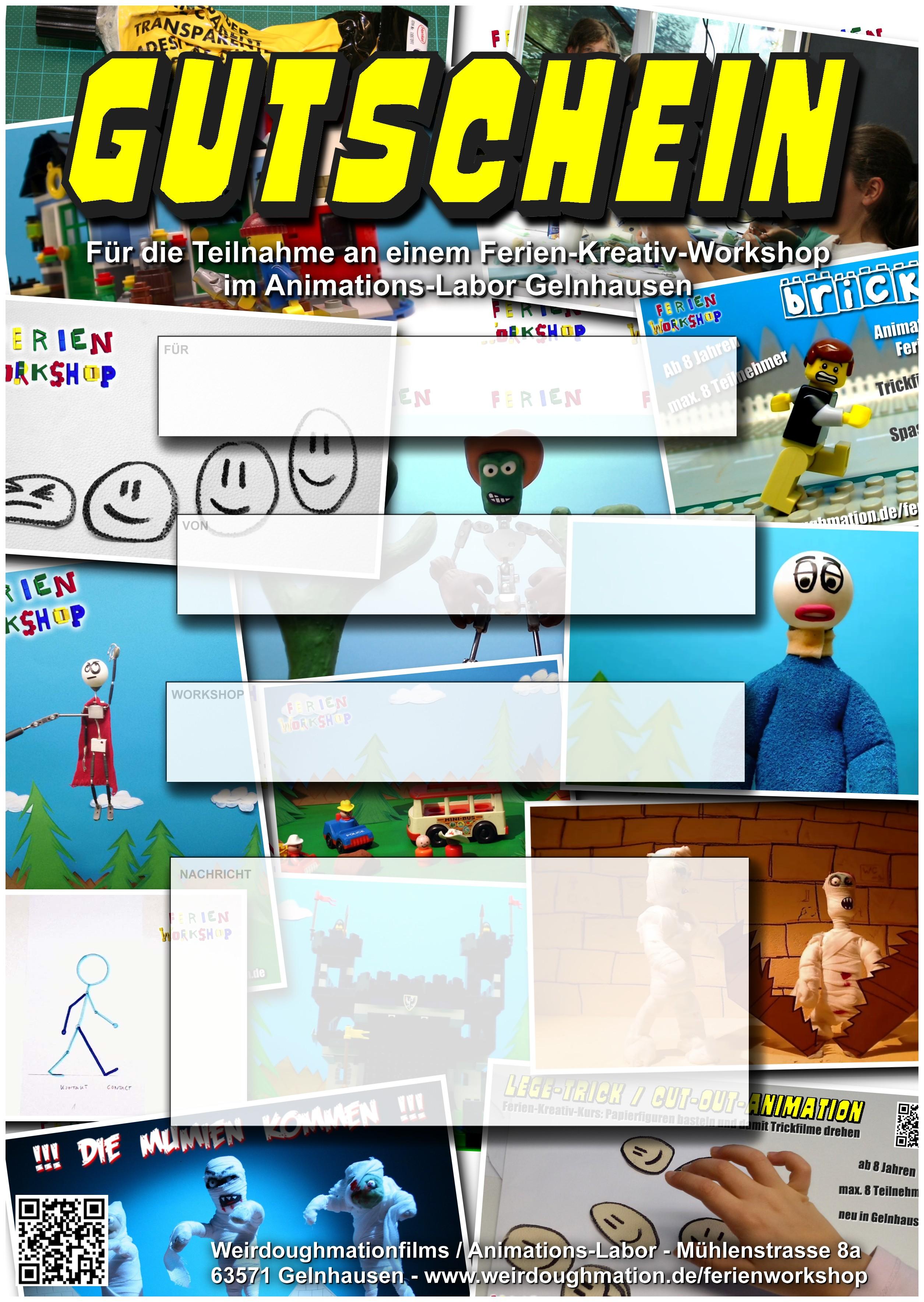 GUTSCHEIN VORLAGE DOWNLOAD Ferien-Workshops Animationslabor